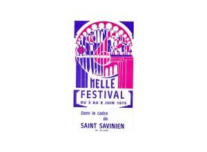 1975 dépliant du 2° festival - création Jacques Guichebard