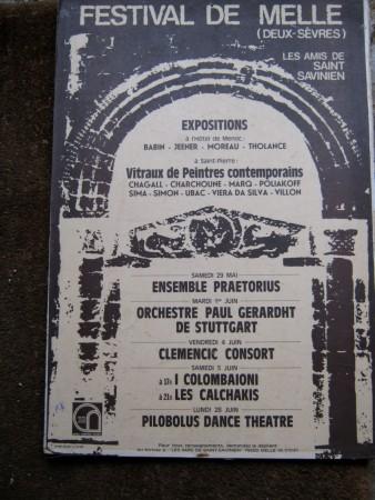 1976 «Année Romane en Poitou Charentes» affiche du Festival