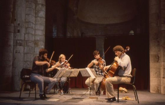 1982: quatuor AMATI - 1er prix du concours d'Evian 1981