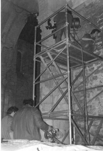 1984 échafaudage pour une camera de FR3