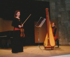 2009 Duo Bergamasque: Anne Cécile Brielles violon – Nathalie Cornevin harpe