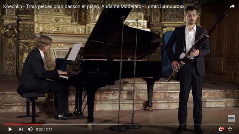 Koechlin - Trois pièces pour basson et piano, Andante Moderato