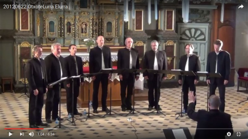 "Otxote Lurra, sous la direction de Jordi Freixa, interprète ""Elurra"""