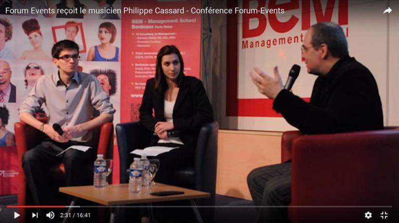 Forum Events reçoit le musicien Philippe Cassard