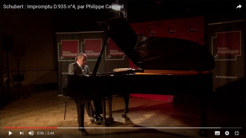 Schubert : Impromptu D.935 n°4, par Philippe Cassard