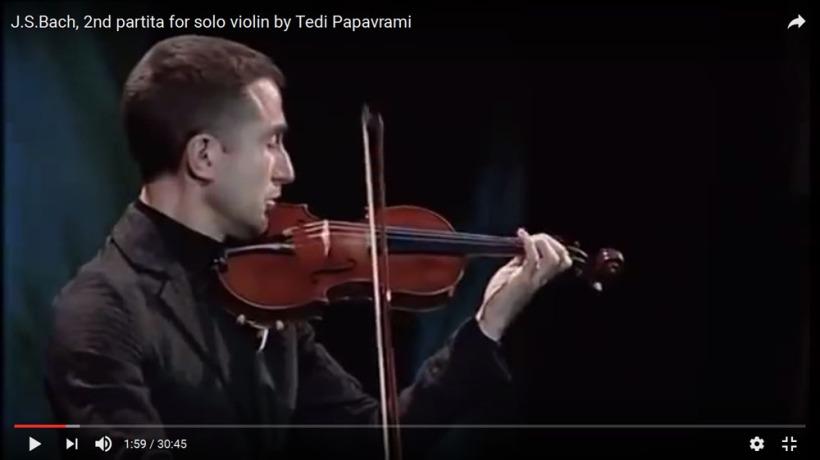 J.S.Bach, 2nd partita for solo violin by Tedi Papavrami