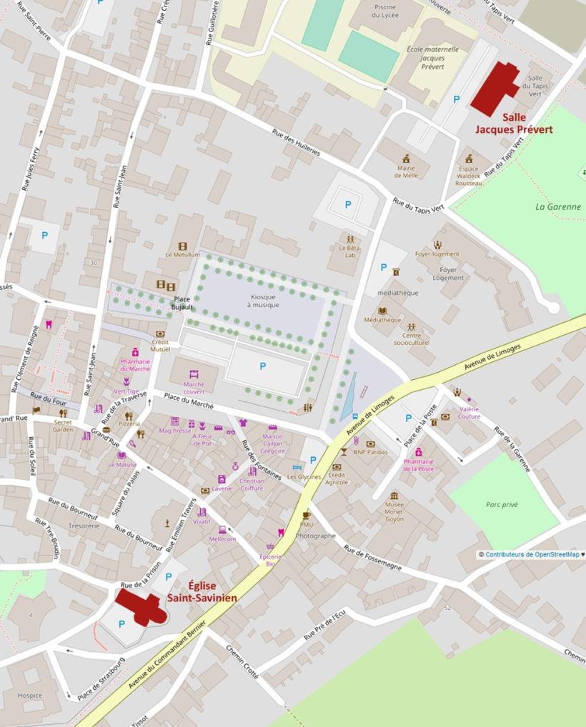 OpenStreetMap - Carte de Melle