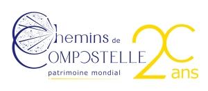 Logo des 20 ans des Chemins de Compostelle