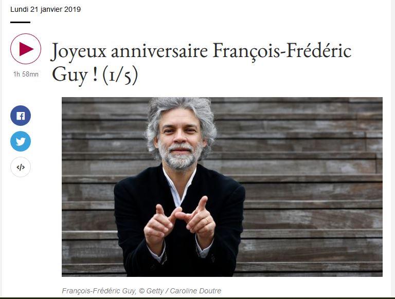 François-Frédéric Guy sur France Musique