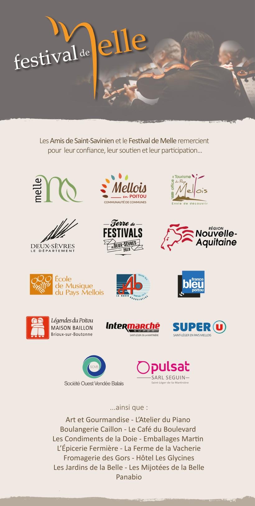 Partenaires © Festival de Melle