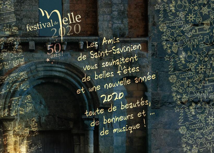Carte de vœux Amis de St-Savinien 2020 © Festival de Melle