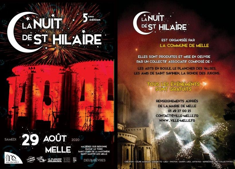 Nuits de Saint-Hilaire 2020 programme recto © Ville de Melle